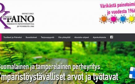 Uudet kotisivut - PK-Paino Oy - Tampere