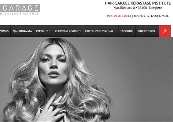 Tyylikkäät kotisivut - Hairgarage - Tampere