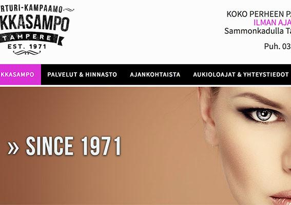 Kotisivut edulliseen hintaan - TukkaSampo - Tampere