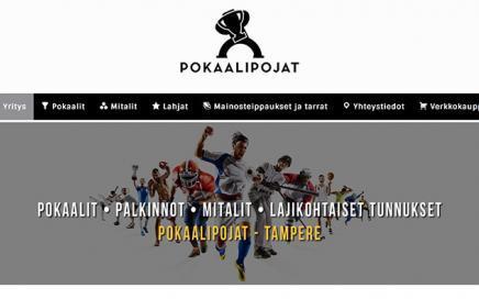 Uudet www-sivut tamperelaiselle Pokaalipojat Oy:lle